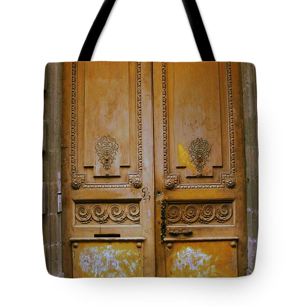Rustic French Door Tote Bag by Nomad Art And  Design