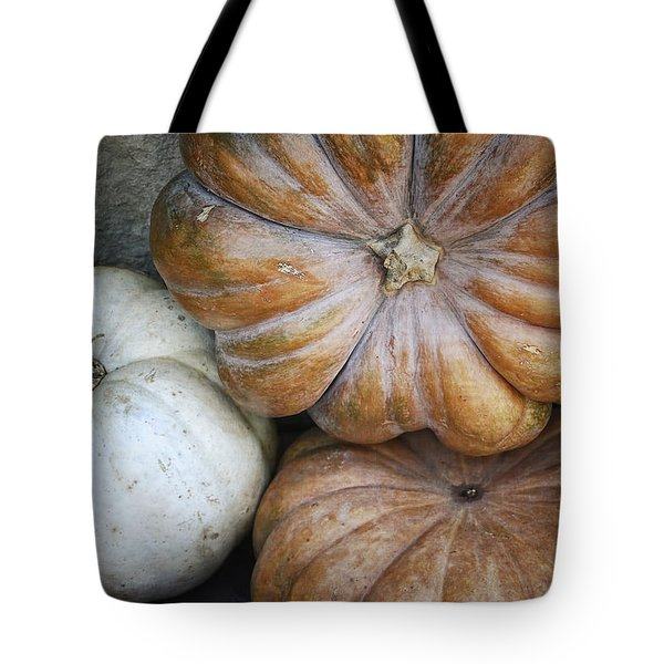 Rustic Pumpkins Tote Bag by Joan Carroll