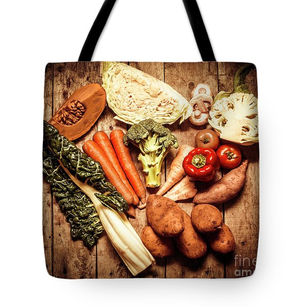 Rustic Style Country Vegetables Tote Bag by Jorgo Photography - Wall Art Gallery