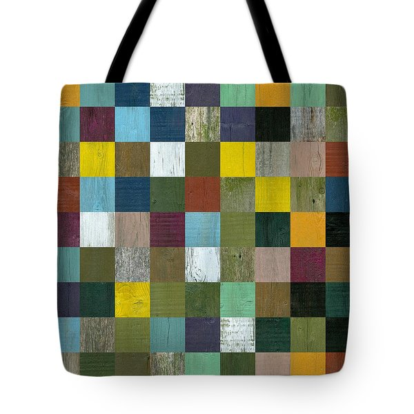 Rustic Wooden Abstract Tote Bag by Michelle Calkins
