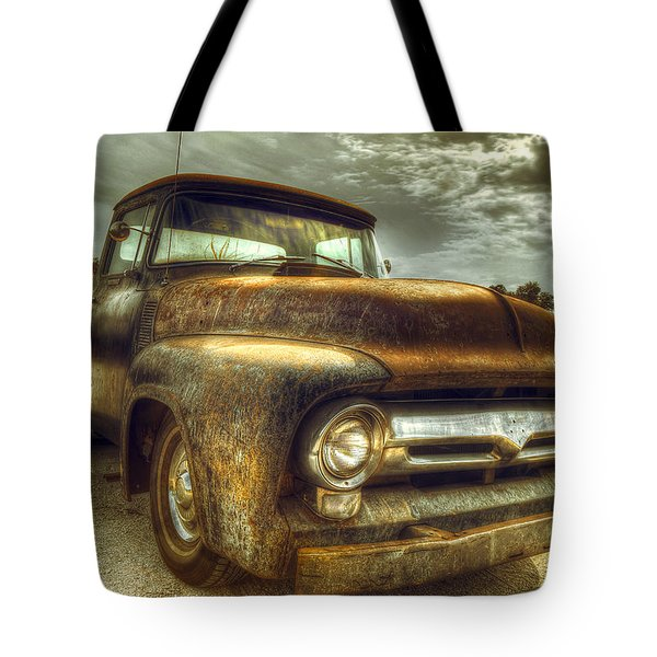 Rusty Truck Tote Bag by Mal Bray