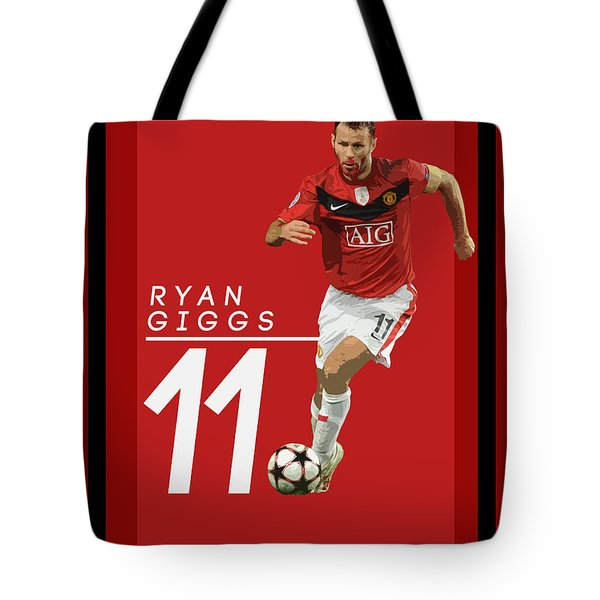 Ryan Giggs Tote Bag by Semih Yurdabak