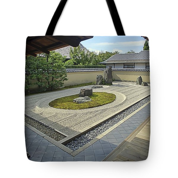 Ryogen-in Zen Rock Garden - Kyoto Japan Tote Bag by Daniel Hagerman