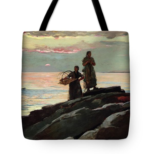 Saco Bay Tote Bag by Winslow Homer