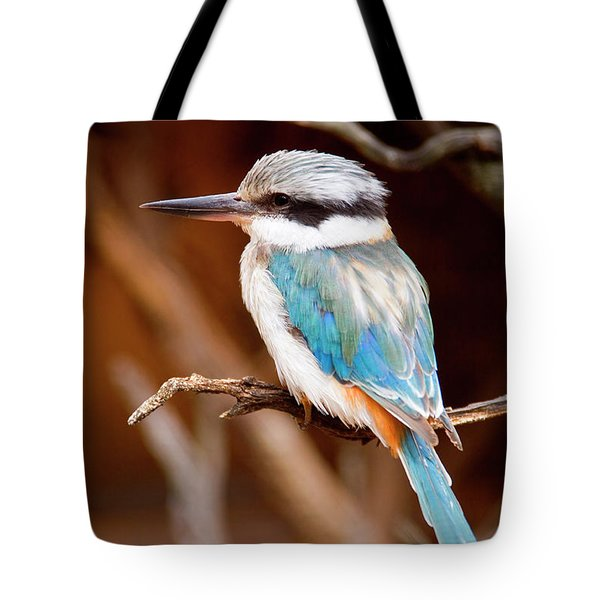 Sacred KingFisher Tote Bag by Mike  Dawson
