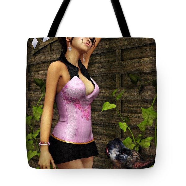 Sad Thoughts Tote Bag by Jutta Maria Pusl