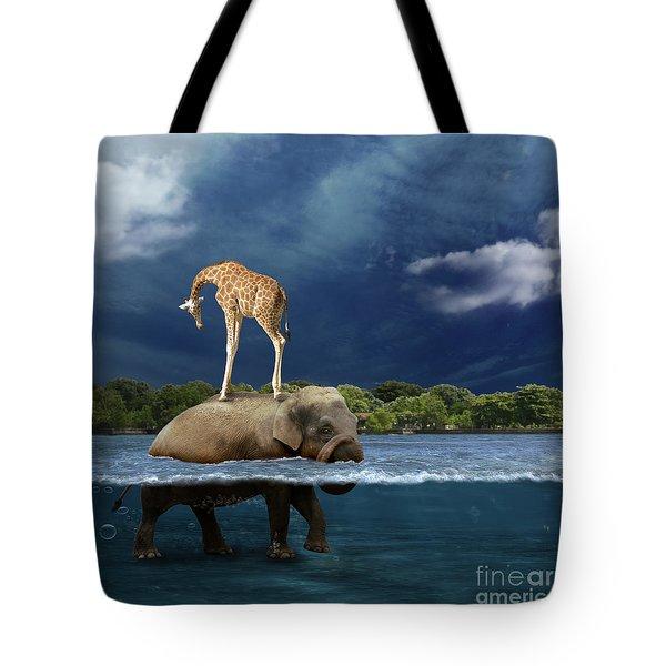Safe Tote Bag by Martine Roch