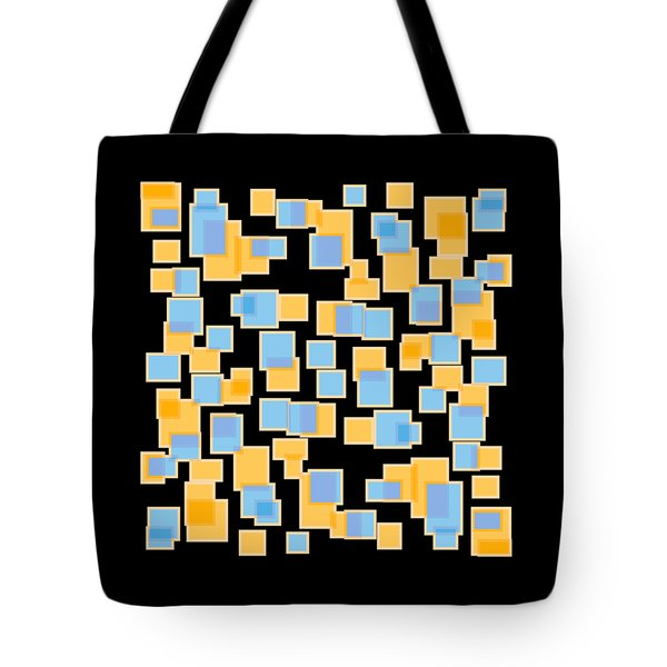 Saffron Yellow And Azure Blue Tote Bag by Frank Tschakert