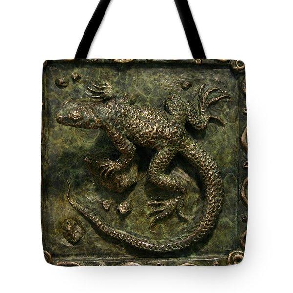 Sagebrush Lizard Tote Bag by Dawn Senior-Trask