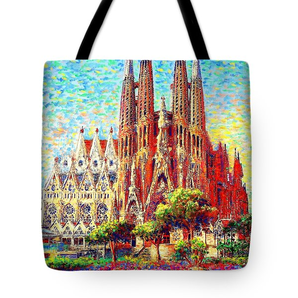 Sagrada Familia Tote Bag by Jane Small