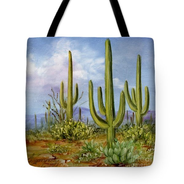 Saguaro Scene 1 Tote Bag by Summer Celeste