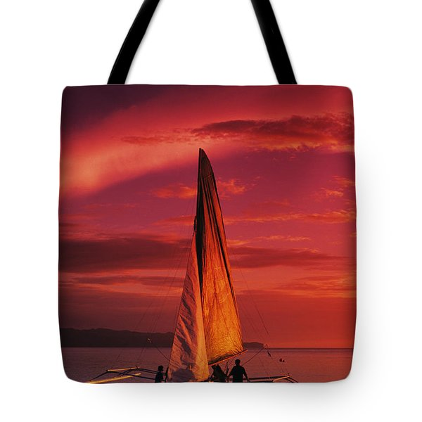 Sailing, Boracay Island Tote Bag by William Waterfall - Printscapes