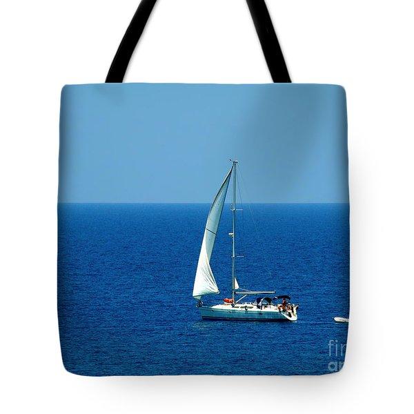 Sailing The Deep Blue Sea Tote Bag by Sue Melvin