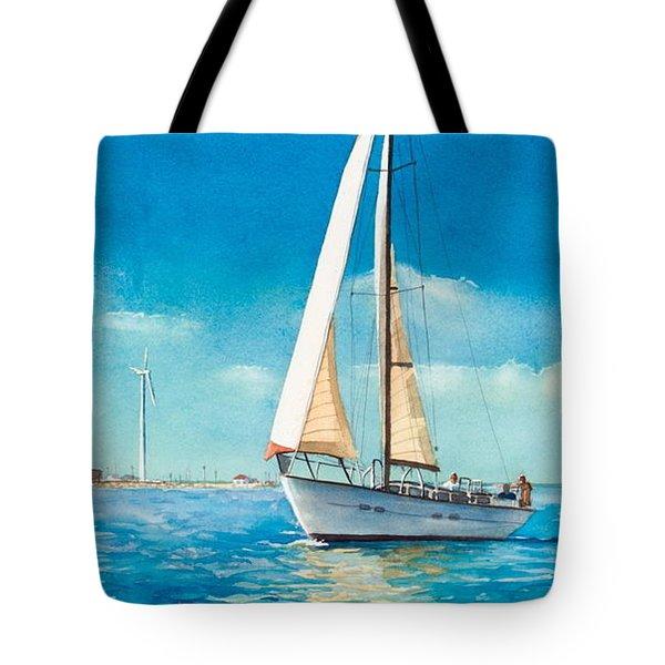 Sailing Through The Gut Tote Bag by Laura Lee Zanghetti