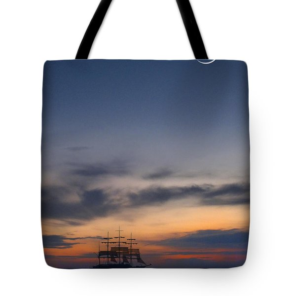Sailing To The Moon Tote Bag by Mike McGlothlen