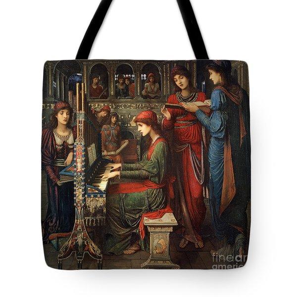 Saint Cecilia Tote Bag by John Melhuish Strudwick