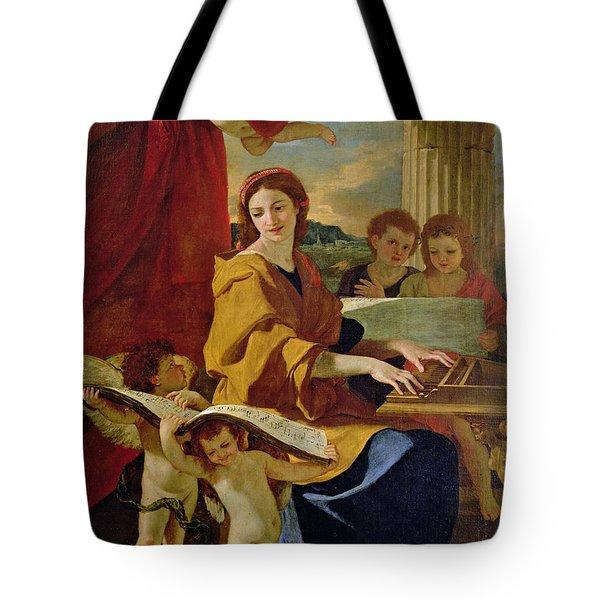 Saint Cecilia Tote Bag by Nicolas Poussin