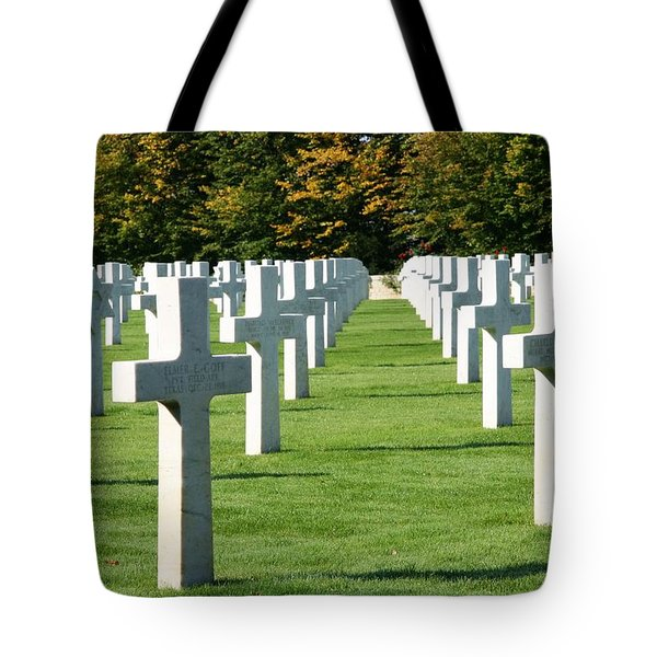 Tote Bag featuring the photograph Saint Mihiel American Cemetery by Travel Pics