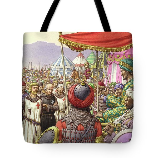 Saladin Orders The Execution Of Knights Templars And Hospitallers  Tote Bag by Pat Nicolle