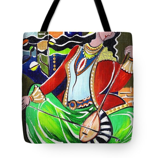 Sallaneh And Its Player Tote Bag by Elisabeta Hermann