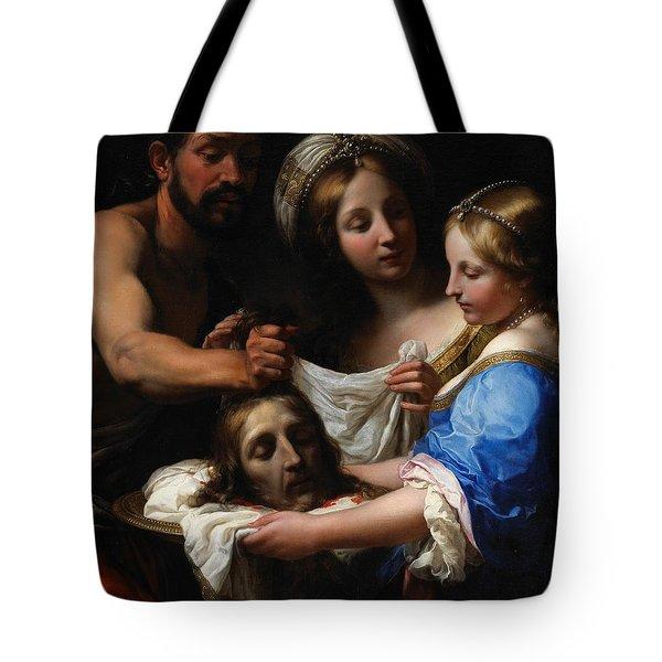 Salome With The Head Of Saint John The Baptist Tote Bag by Onorio Marinari