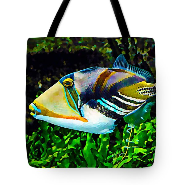 Saltwater Triggerfish Tote Bag by Marvin Blaine