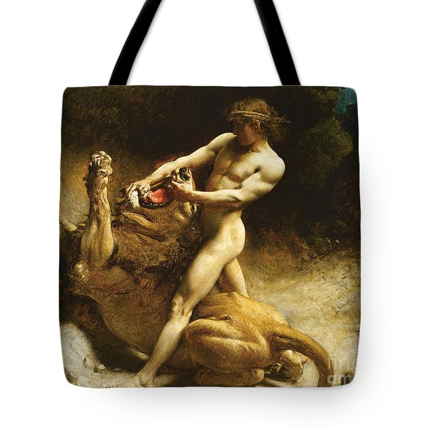 Samson's Youth Tote Bag by Leon Joseph Florentin Bonnat