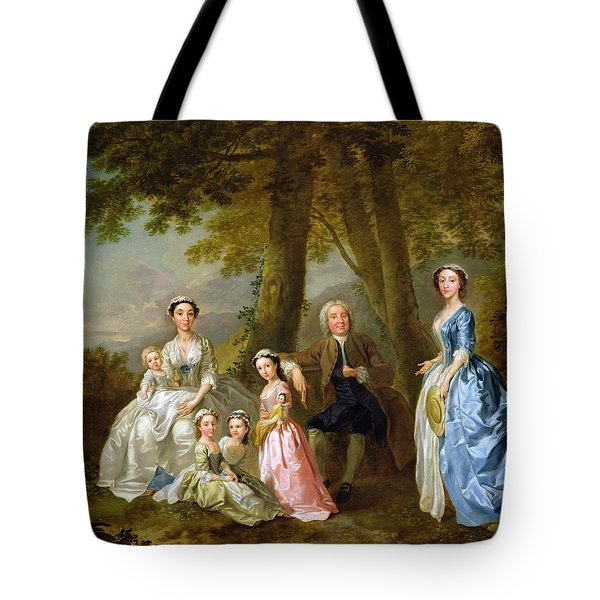 Samuel Richardson Seated With His Family Tote Bag by Francis Hayman