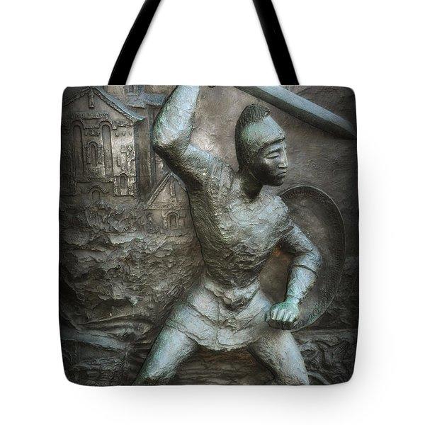 samurai warrior Tote Bag by Bill Cannon