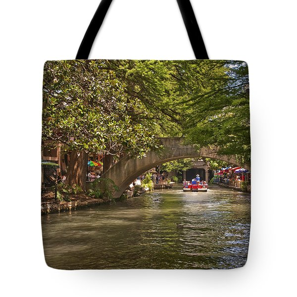 San Antonio Riverwalk Tote Bag by Steven Sparks