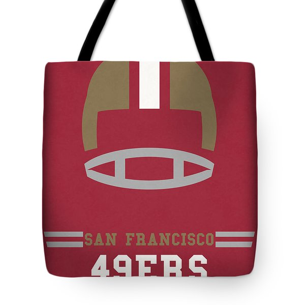 San Francisco 49ers Vintage Art Tote Bag by Joe Hamilton