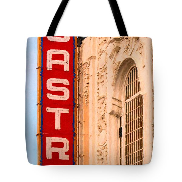 San Francisco Castro Theater Tote Bag by Wingsdomain Art and Photography
