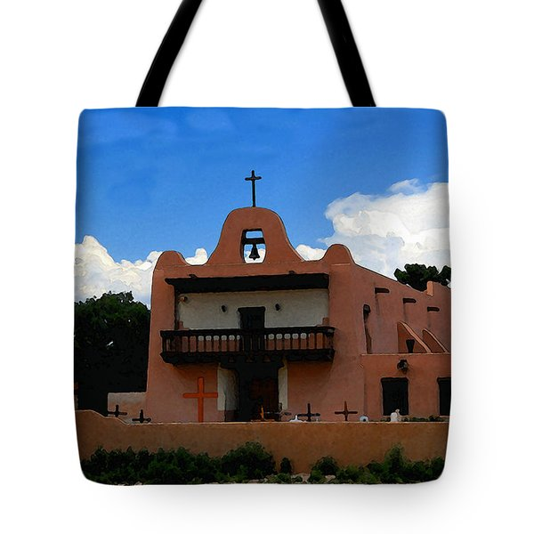 San Ildefonso Pueblo Tote Bag by David Lee Thompson