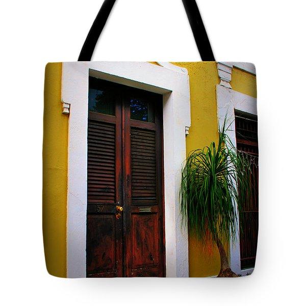 San Juan Doors Tote Bag by Perry Webster