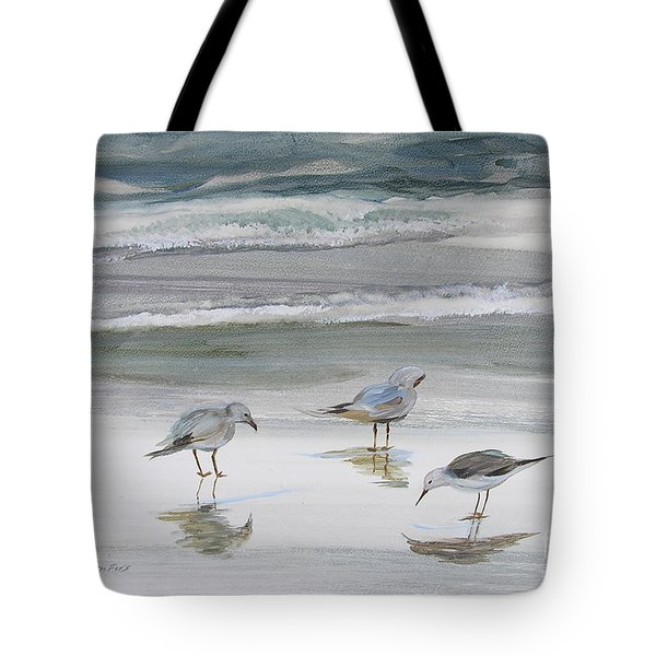 Sandpipers Tote Bag by Julianne Felton