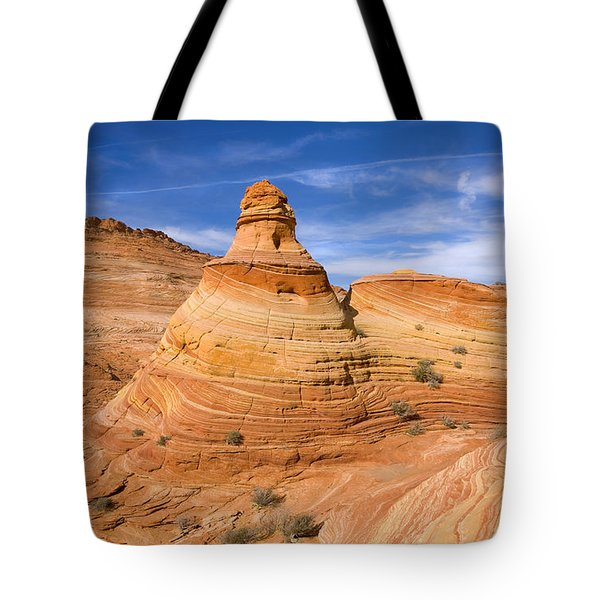 Sandstone Tent Rock Tote Bag by Mike  Dawson
