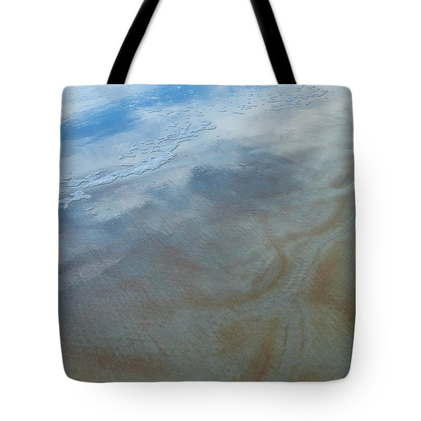 Sandy Beach Abstract Tote Bag by Carolyn Marshall
