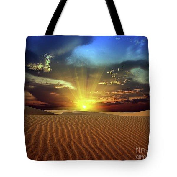 Sandy Desert Tote Bag by MotHaiBaPhoto Prints