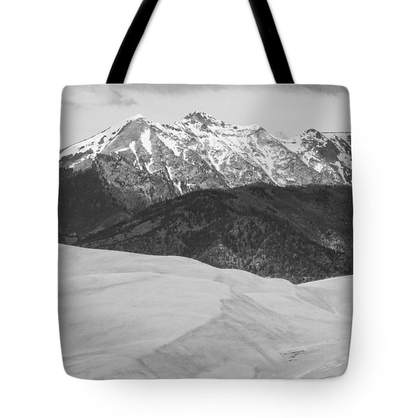 Sangre De Cristo Mountains And The Great Sand Dunes Bw V Tote Bag by James BO  Insogna