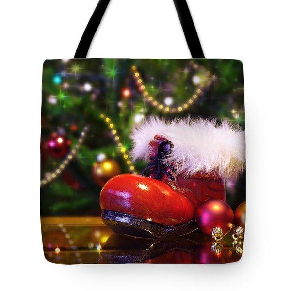 Santa-claus boot Tote Bag by Carlos Caetano