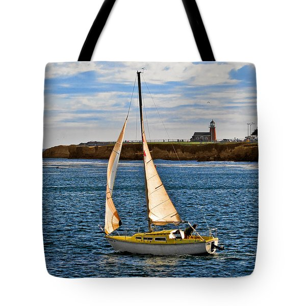Santa Cruz Mark Abbott Memorial Lighthouse CA  Tote Bag by Christine Till
