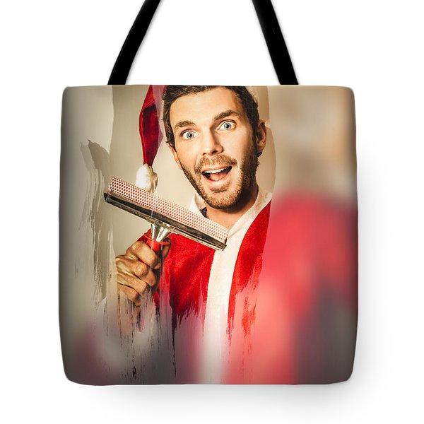 Santa Elf Preparing For Christmas Tote Bag by Jorgo Photography - Wall Art Gallery