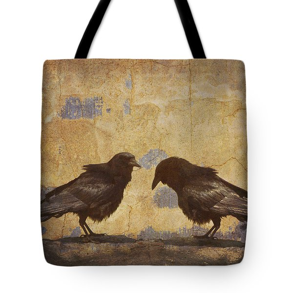 Santa Fe Crows Tote Bag by Carol Leigh