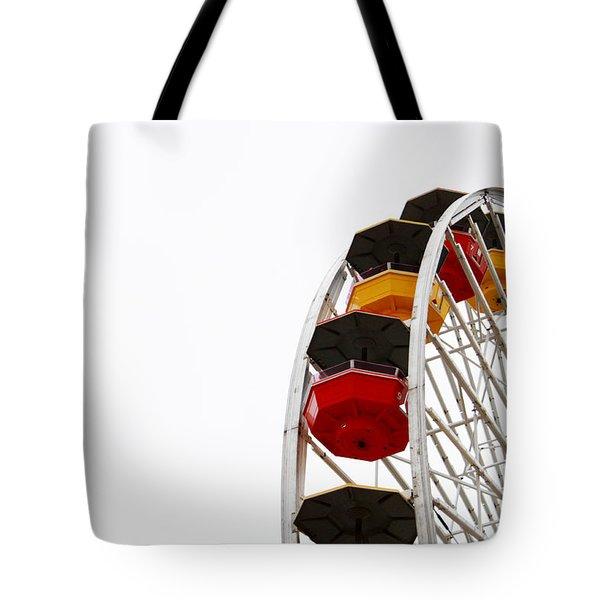 Santa Monica Pier Ferris Wheel- By Linda Woods Tote Bag by Linda Woods
