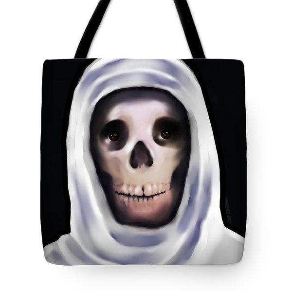 Santa Muerte Tote Bag by Carmen Cordova