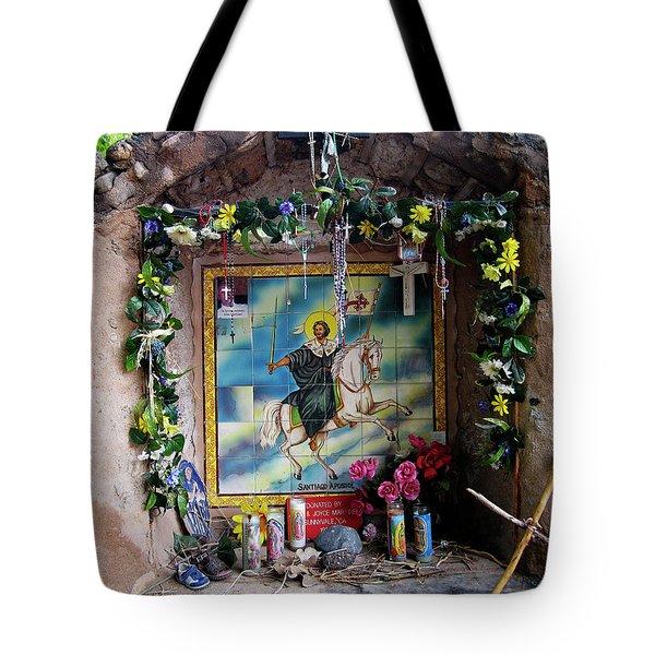 Santiago Apostel Chimayo Tote Bag by Kurt Van Wagner