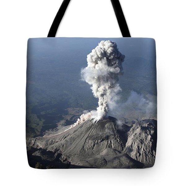 Santiaguito Ash Eruption, Guatemala Tote Bag by Martin Rietze