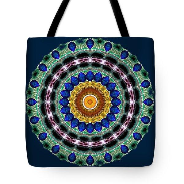 Sapphire Necklace Mandala Tote Bag by Joy McKenzie