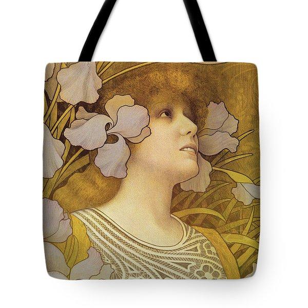 Sarah Bernhardt Tote Bag by Paul Berthon
