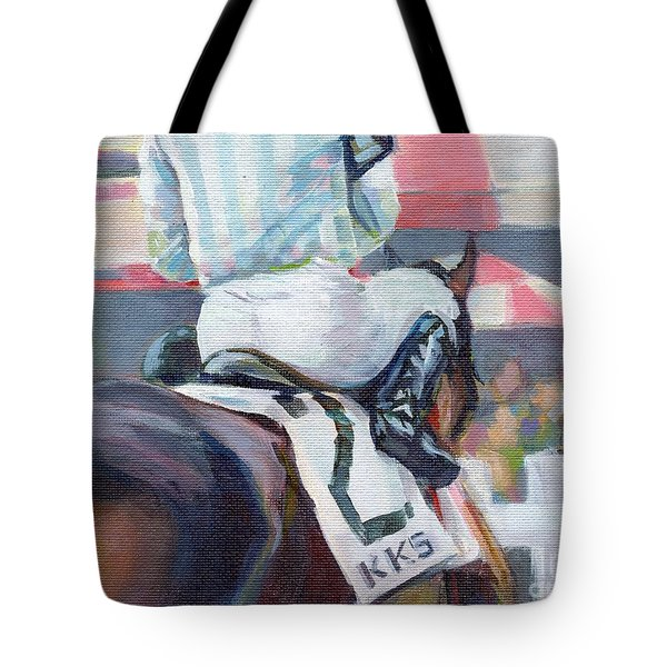 Saratoga Stripes Tote Bag by Kimberly Santini